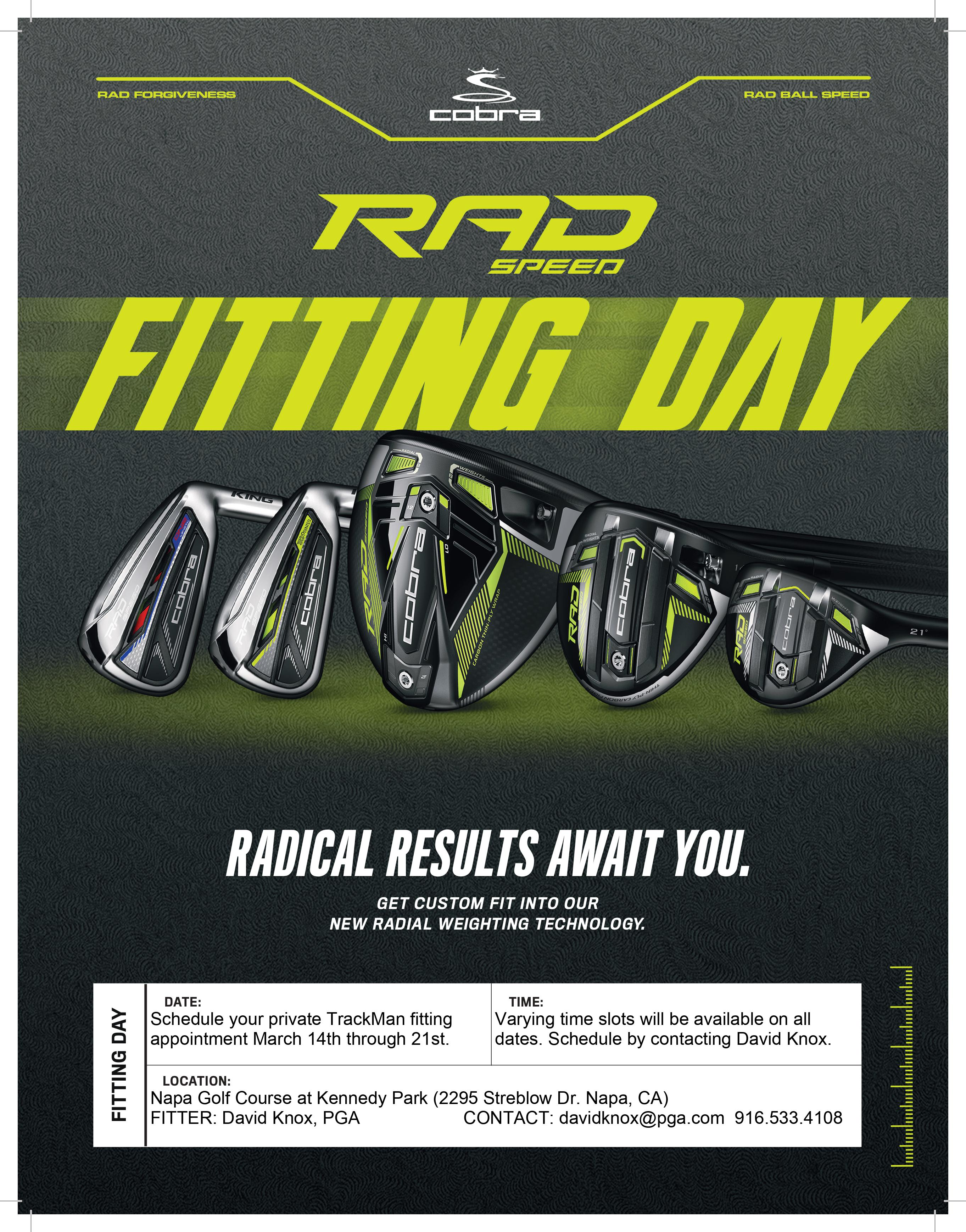Cobra Fitting Appointment Flyer 2021 David Knox