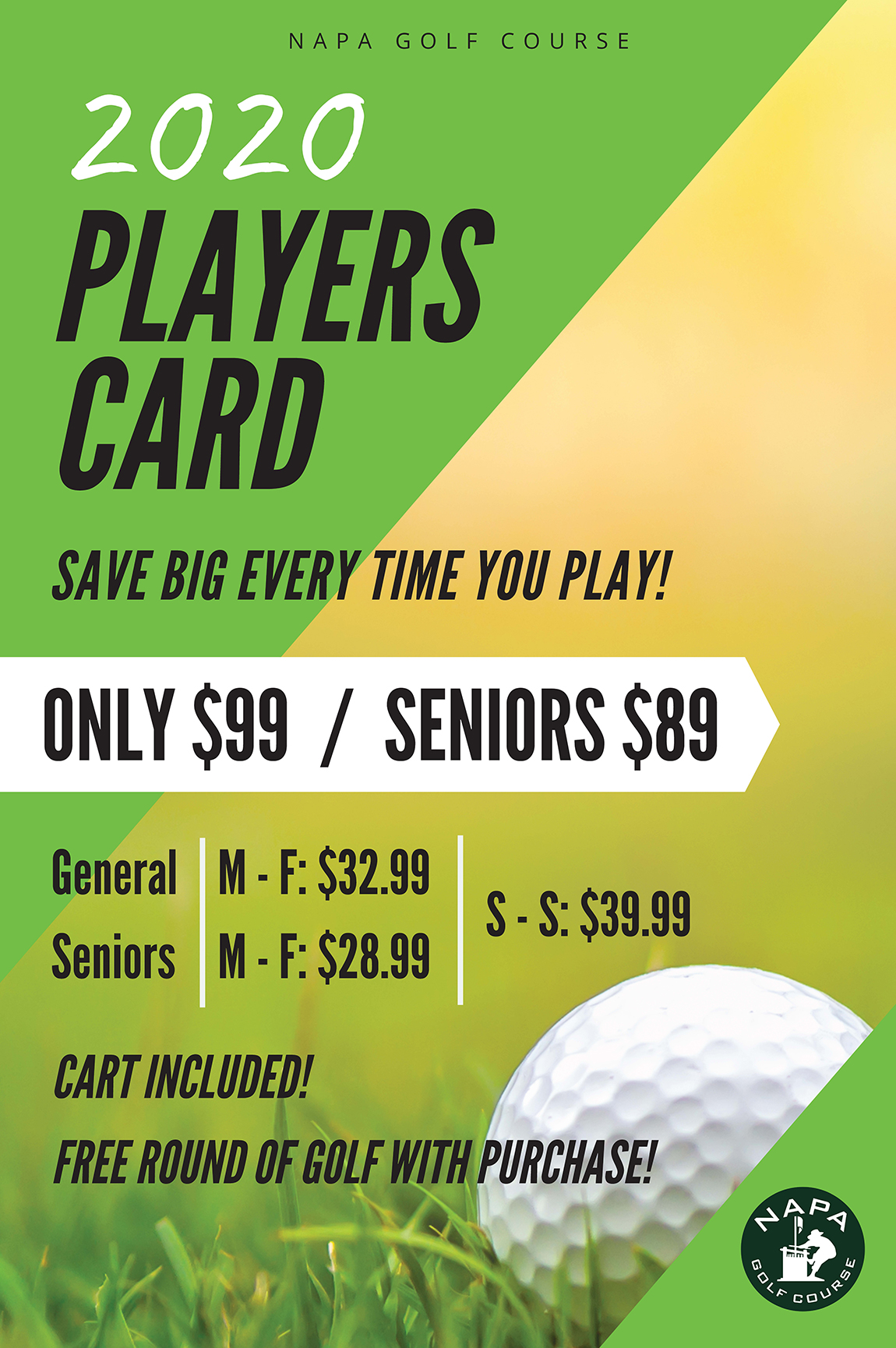 Napa 2020 players club poster p1122h v1a
